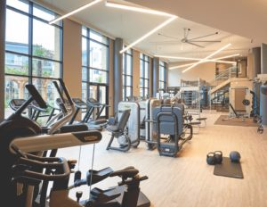 Gym Design Fitness Equipment Multifamily - Technogym Gym Rax Ecore