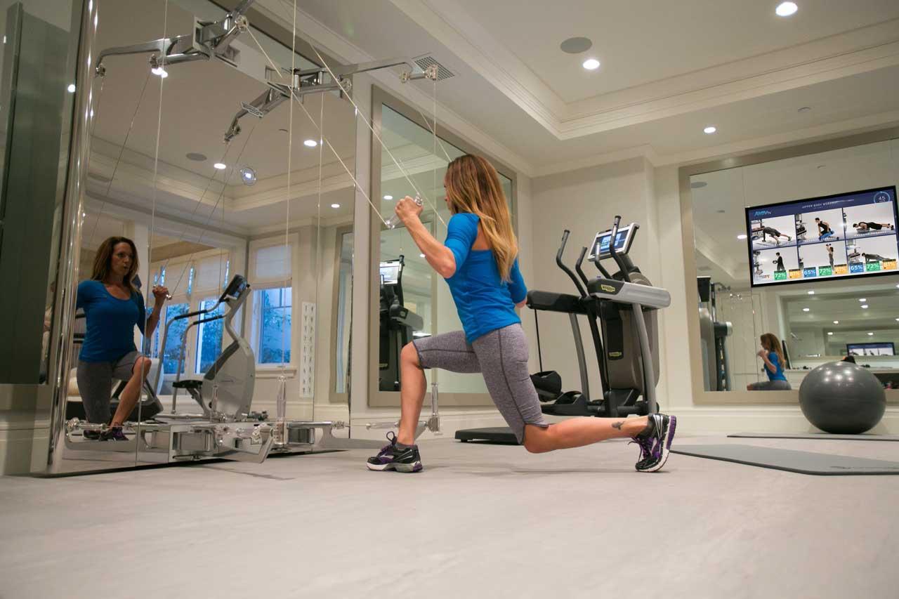 Home Gym Design Technogym Kinesis gym floor