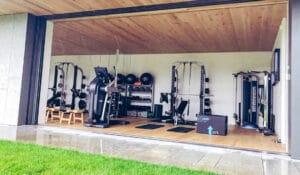 Hamptons NY Home Gym - Fitness Design Group Technogym Gym rax outdoor fitness