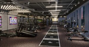 power fitness by accor and fitness design group gym design concept