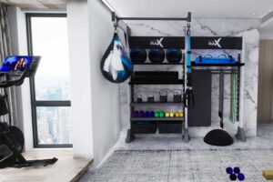 Gym Rax double bay design for home gym in an apartment